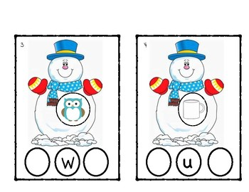 Beginning and Ending Center with Snowmen