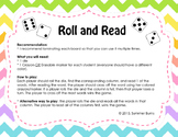 "Beginning and Ending Consonant Blends Game ""Roll and Read"""