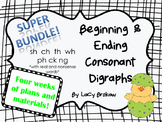 Beginning and Ending Consonant Digraphs SUPER BUNDLE sh ch th wh ph ck ng