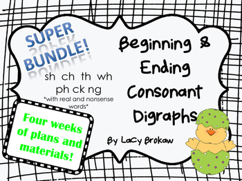 Beginning and Ending Consonant Digraphs SUPER BUNDLE sh ch