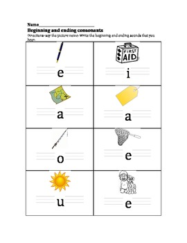Beginning and Ending Consonants