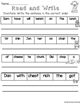 Orton-Gillingham Digraph ch and tch Worksheets and Activities (RTI/ Dyslexia)