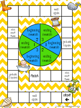 Beginning and Ending Digraphs Board Game - ch, ck, sh, th, wh