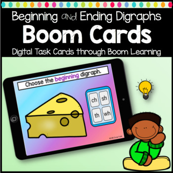 Boom Cards Beginning and Ending Digraphs Digital Learning