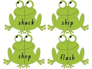 Beginning and Ending Digraphs Frog Matching Game