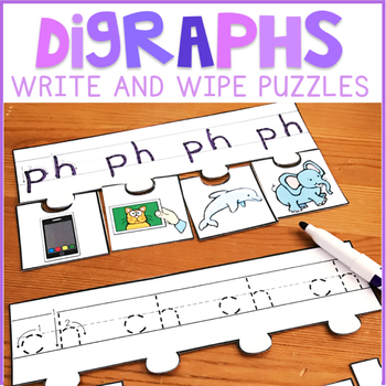 Beginning and Ending Digraphs Write and Wipe Puzzles