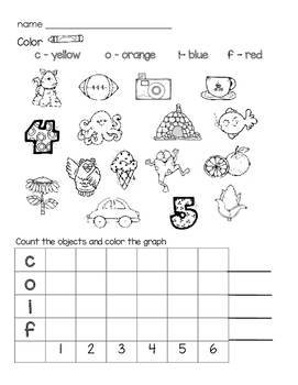 Beginning and Ending Letter sounds with graphing