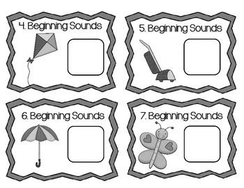 Task Cards or Scoot! Beginning and Ending Sound