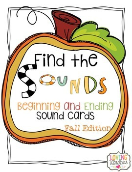 Beginning and Ending Sound Cards: Fall Edition