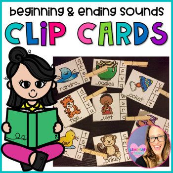 Beginning and Ending Sound Clip Cards