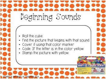 Beginning, Medial & Ending Sounds