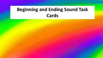 Beginning and Ending Sound Task Cards (36 Cards)