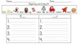 Beginning and Ending Sound Word Sort (Rr)