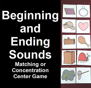 Beginning and Ending Sounds Matching Game