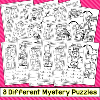 Beginning and Ending Sounds Mystery Puzzles