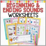 Beginning and Ending Sounds Worksheets