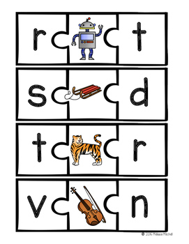 Beginning and Ending Sounds Phonics Puzzles