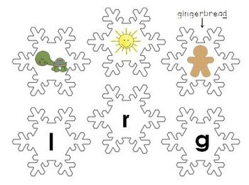 Beginning and Ending Sounds Snowflakes