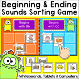 Beginning and Ending Sounds Word Work Game - Digital Sorting Activity