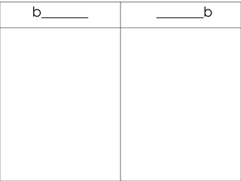 Beginning and Ending Sounds Word Work Activity Daily 5 Common Core