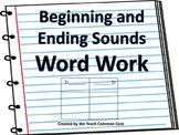 Beginning and Ending Sounds Word Work Activity Language Skills