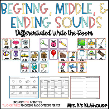 Beginning and Ending Sounds Write the Room