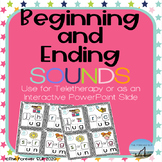 Beginning and Ending Sounds for Teletherapy - Phonemic Awareness