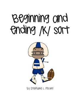 Beginning and Ending /k/ Sort