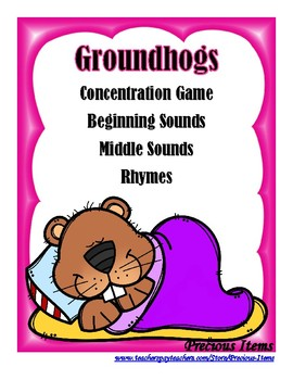 Beginning and Middle Sounds, Rhymes, and CVC Concentration