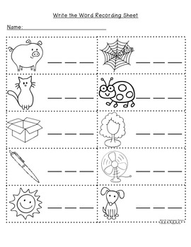 Beginning and Short Vowel Sounds Center Cards ~ Common Core Aligned