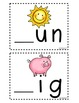 Beginning and Short Vowel Sounds Center Cards ~ Common Cor
