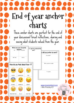 Beginning and end of year anchor charts bundle