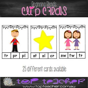 Beginning blends clip cards