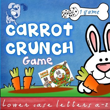 Beginning, initial letter sounds game - Carrot Crunch - Easter