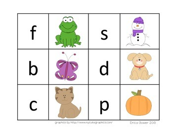 Beginning letter sounds (matching and practice sheets)