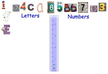 Beginning level letter and number sort a-f & 1-6