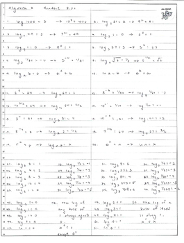 Beginning logarithms -- exponential and logarithmic forms