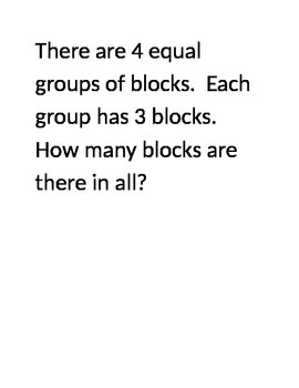 Beginning multiplication word problems