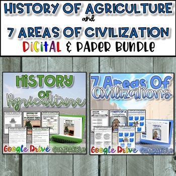 Beginning of Agriculture & 7 Areas of Civilization Bundle