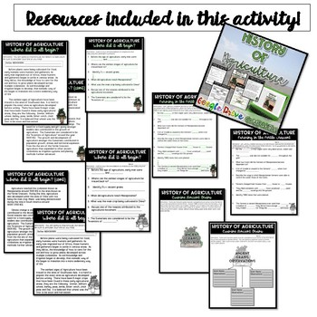 History of Agriculture & 7 Areas of Civilization {Digital AND Paper}