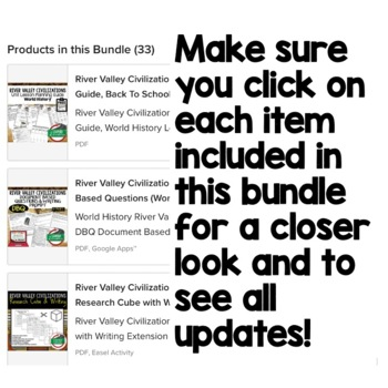 Early Man & River Valley Civilizations World History BUNDLE