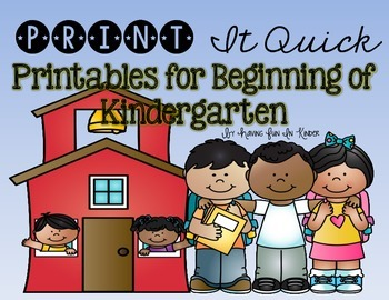 Back to School Printables - {Literacy and Math Printables}
