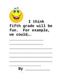 Beginning of School Activity (5th Grade)