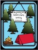 Beginning of School Camp Writing