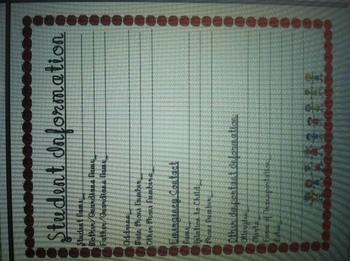 Beginning of School Classroom Documents
