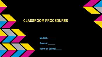 Beginning of School - Classroom Procedures