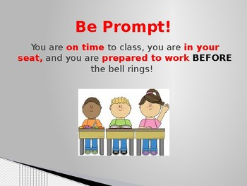 Beginning of School - Classroom Rules and Discipline