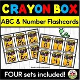Beginning of School Crayon Box ABC Flashcards