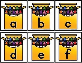 Beginning of School Crayon Box ABC Flashcards