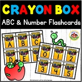 Beginning of School Crayon Box ABC and Number Flashcards